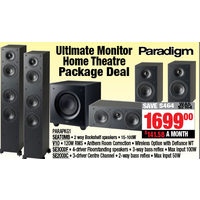 Paradigm Ultimate Monitor Home Theatre Package Deal