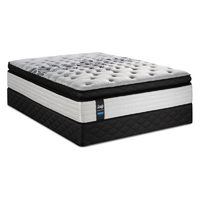 Sealy Posturepedic Floral Bliss Euro Pillowtop Queen Mattress Set - Queen Set