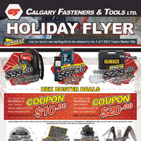 Calgary Fasteners & Tools - Holiday FLyer Flyer