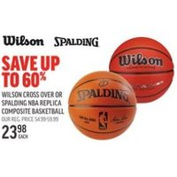 Wilson Cross Over or Spalding Nba Replica Composite Basket Ball