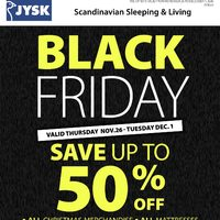 JYSK - Black Friday Flyer