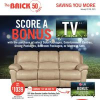 The Brick - Saving You More - Bonus TV Event Flyer