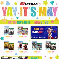 EB Games - Yay, It's May! Flyer