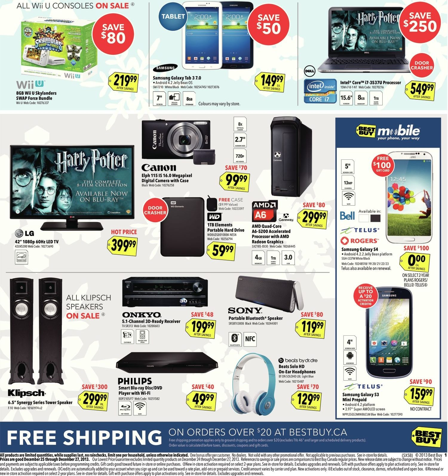 Best Buy Weekly Flyer Boxing Day Sale Dec 25 27 Moouse Toshiba Kw