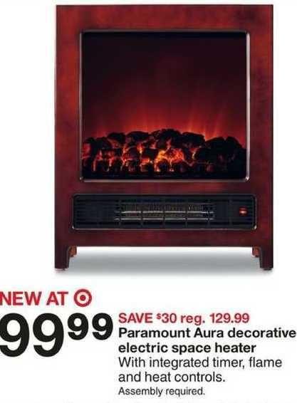 Target Paramount Aura Decorative Electric Space Heater