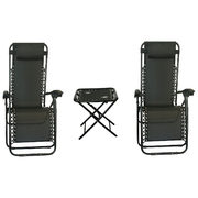 Contemporary 3-Piece Patio Conversation Set - Black - Online Only - $149.99 ($50.00 off)