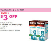 Benylin All-in-One Cold and Flu Relief Syrup - $11.99 ($3.00 off)