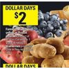 Farmer's Market Red, Yellow or Russet Potatoes or Blueberries - $2.00