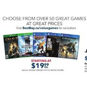 Select PS4 & Xbox One Games - From $19.99
