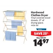 Hardwood Clothes Dryer - $14.97 (25% off)