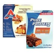 Atkins or Pure Protein Bars - $7.99