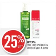 25% Off Reversa Skin Care Products