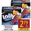 Chapman's Super Lolly  - $2.79 ($2.20 off)