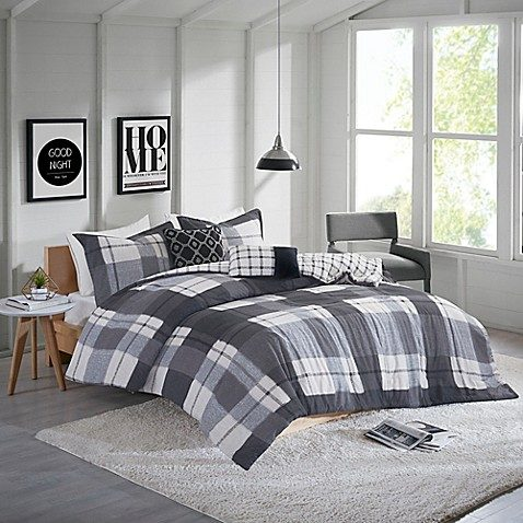 Bed Bath And Beyond Clint Flannel 4 Piece Twin Twin Xl Comforter