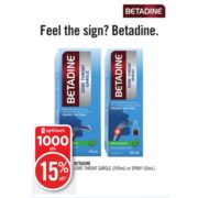 Shoppers Drug Mart: Betadine Sore Throat Gargle or Spray