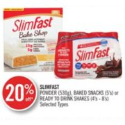 20% Off Slimfast Ready to Drink Shakes