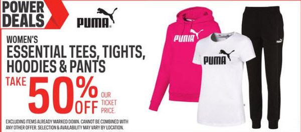 5f96c26c19b4c Sport Chek Puma Women's Essential Tees, Tights, Hoodies & Pants - 50% off Puma  Women's Essential Tees, Tights, Hoodies & Pants