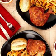 Swiss Chalet 2 Can Dine Deals: 2 Quarter Chicken Dinners for $16 (Dine-in) or 2 Quarter Chicken Dinners + App for $20 (Delivery)!