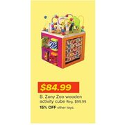 B. Zany Zoo Wooden Activity Cube - $84.99