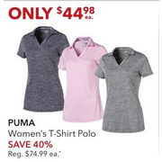Puma Women's T-Shrit Polo  - $44.98 (40% off)