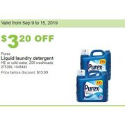 Purex Liquid Laundry Detergent He or Cold Water - $12.79 ($3.20 off)