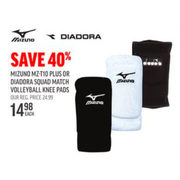 Mizuno MZ-T10 Plus Or Diadora Squad Match Volleball Knee Pads - $14.98 (40% off)