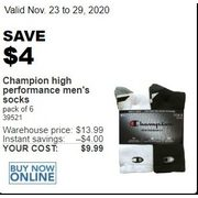Champion High Performance Men's Socks - $9.99 ($4.00 off)