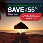 Orbitz.com: Mexico 48-Hour Hotel Sale, Save Up to 55% + 15% Coupon Code (Ends March 20)